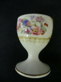 Retro floral hand painted egg cup